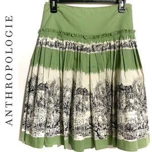Anthropologie Odille French Village Skirt Size 2